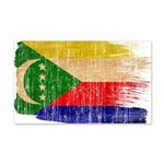 Comoros Flag 22x14 Wall Peel