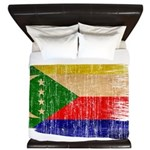 Comoros Flag King Duvet