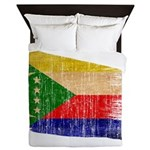 Comoros Flag Queen Duvet