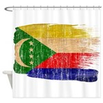 Comoros Flag Shower Curtain