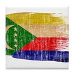 Comoros Flag Tile Coaster