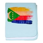 Comoros Flag baby blanket