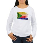 Comoros Flag Women's Long Sleeve T-Shirt
