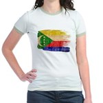 Comoros Flag Jr. Ringer T-Shirt