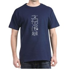 White Front and Back Binary Crop Circle T-Shirt