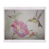 Hummingbird art Blankets