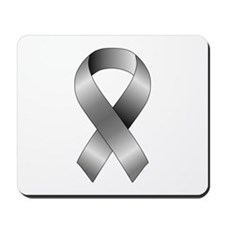 Grey Ribbon Mousepad