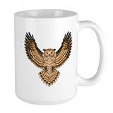 Beadwork Great Horned Owl Mug