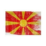 Macedonia Flag Rectangle Magnet