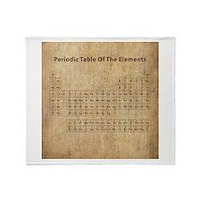 Vintage Periodic Table Throw Blanket