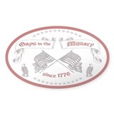 """Gays in the Military"" Oval Decal"