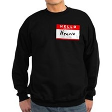 Henrik, Name Tag Sticker Sweatshirt