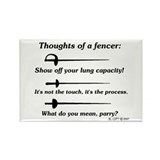 Fencer Thoughts Rectangle Magnet