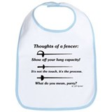 Fencer Thoughts Bib