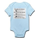 Fencer Thoughts Infant Bodysuit