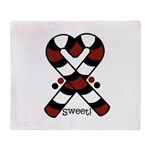 Candycanes Throw Blanket