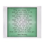 irish blessing (sq) Throw Blanket