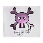 scary but cute Throw Blanket
