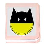 bat smiley baby blanket
