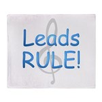 leads rule.png Throw Blanket