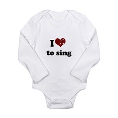 i heart to sing.png Long Sleeve Infant Bodysuit