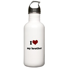 i heart my sister.png Water Bottle