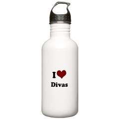 i heart divas.png Stainless Water Bottle 1.0L