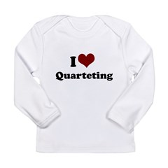 i heart quarteting.png Long Sleeve Infant T-Shirt