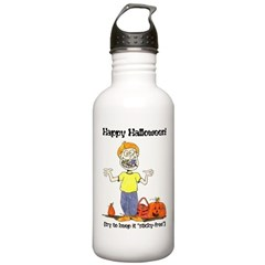 happy halloween card - ortho.png Water Bottle