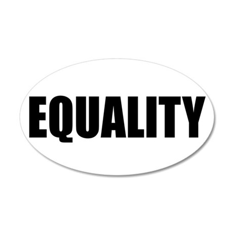 EQUALITY for ALL 38.5 x 24.5 Oval Wall Peel