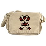 Candycanes Messenger Bag