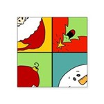 christmas fun Square Sticker 3