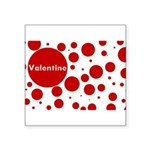 Valentine dots Square Sticker 3