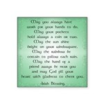 irish blessing (sq) Square Sticker 3