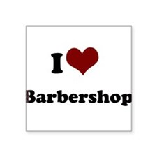 "iheart barbershop.png Square Sticker 3"" x 3"""