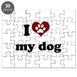 i heart my dog.png Puzzle