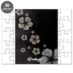 Hibiscus on Black Puzzle