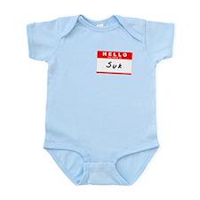 Suk, Name Tag Sticker Infant Bodysuit