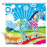 Psychedelic Zebra Shower Curtain