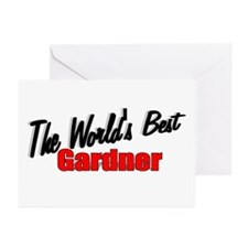 """""""The World's Best Gardner"""" Greeting Cards (Package"""