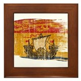 New Brunswick Flag Framed Tile