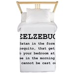 Beelzebug Definition Black.png Twin Duvet