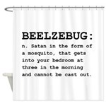 Beelzebug Definition Black.png Shower Curtain