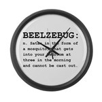 Beelzebug Definition Black.png Large Wall Clock