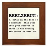 Beelzebug Definition Black.png Framed Tile
