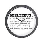 Beelzebug Definition Black.png Wall Clock