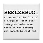 Beelzebug Definition Black.png Tile Coaster