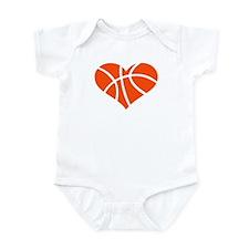 Basketball heart Infant Bodysuit