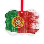 Portugal Flag Picture Ornament