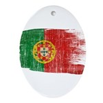 Portugal Flag Ornament (Oval)